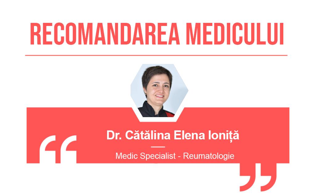 Recomandarea medicului Catalina Elena Ionita